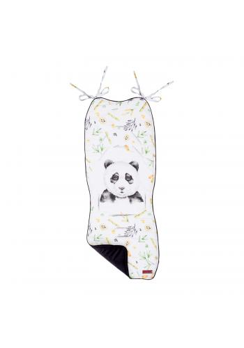 Detská mäkká vložka do kočiara s obrázkom pandy