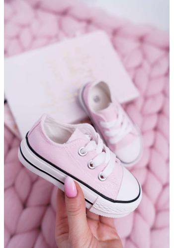 Klasické detské tenisky ružovej farby