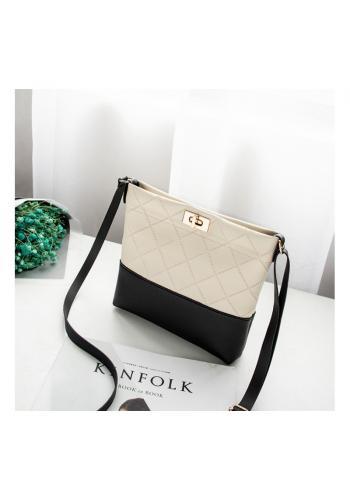 Dámska mini kabelka z ekokože v krémovej farbe