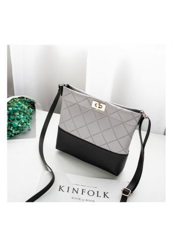 Mini dámska kabelka sivej farby z ekokože