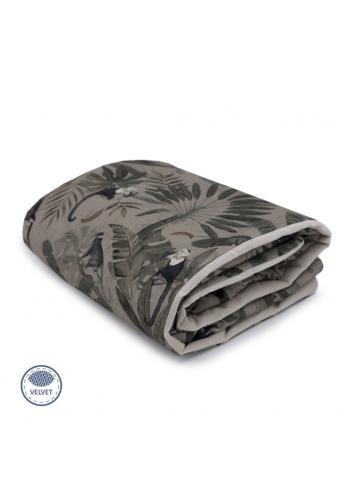 Zamatová tenká deka pre deti s motívom opíc