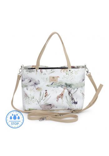 Príručná taška na kočík s motívom Savany