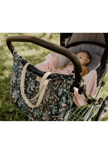 Príručná taška na kočík s tropickým motívom