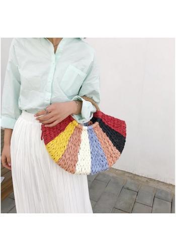 Dámska farebná prútená kabelka