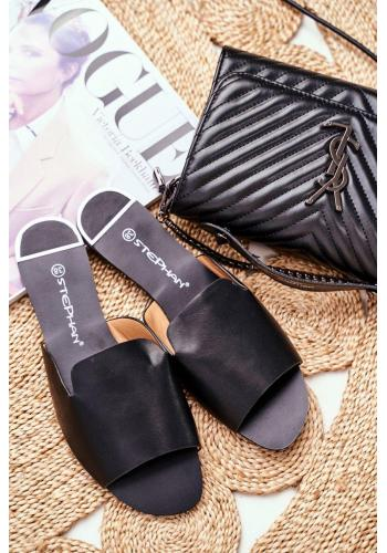 Čierne elegantné šľapky pre dámy