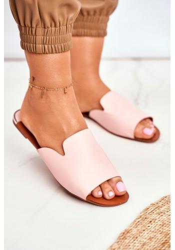 Ružové elegantné šľapky pre dámy
