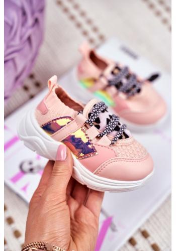 Ružové štýlové tenisky s leopardím vzorom pre dievčatá