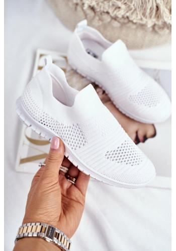 Biele vzdušné tenisky pre deti