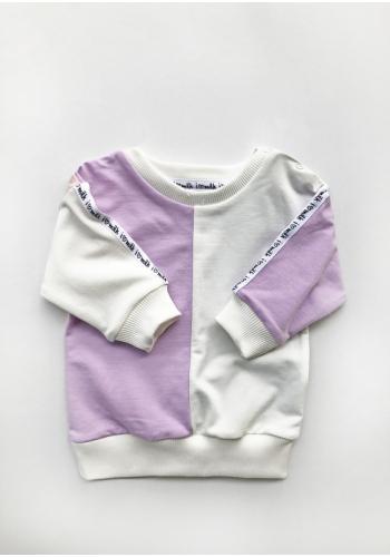Štýlová detská mikina v pastelových farbách