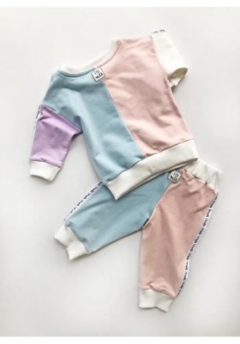 Detské štýlové nohavice v pastelových farbách