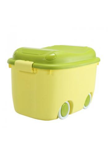 Organizér na hračky s kolieskami v zelenej farbe