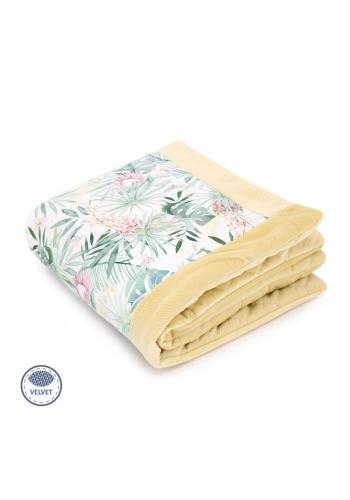 Teplá zamatová deka pre deti s tropickým motívom