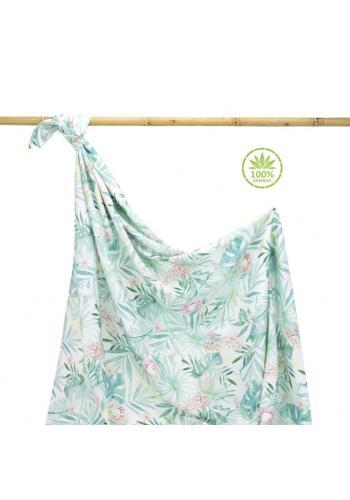 Bambusová deka na leto s tropickým motívom