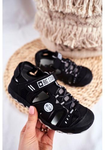 Čierne chlapčenské sandále Big Star na suchý zips
