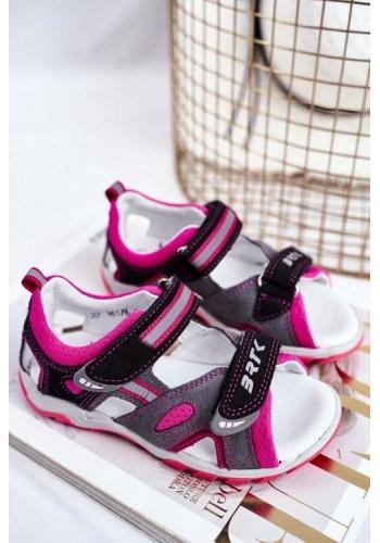Profylaktické ružovo-sivé sandálky pre dievčatka