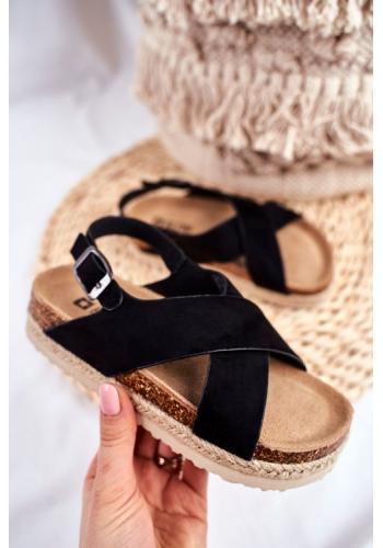 Dievčenské sandále Big Star v čiernej farbe