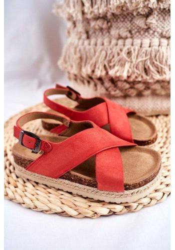 Oranžové módne sandále Big Star pre dievčatka