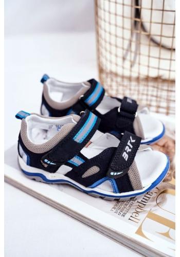 Chlapčenské profylaktické sandále modro-čiernej farby
