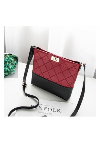 Dámska mini kabelka z ekokože v červenej farbe