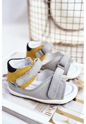Detské profylaktické sandálky pre deti v trojfarebnej kombinácii