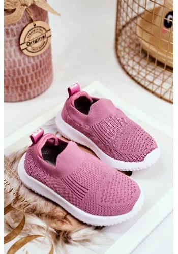Nazúvacie tenisky ružovej farby pre dievčatá