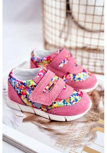 Dievčenské profylaktické farebné topánky na suchý zips