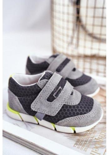 Chlapčenské profylaktické sivé topánky na suchý zips
