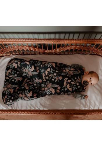Detský spací vak s vintage kvetmi