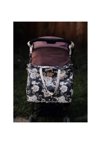 Príručná taška na kočík s vintage kvetmi