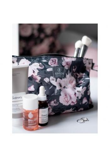 Vodeodolná kozmetická taštička s vintage kvetmi