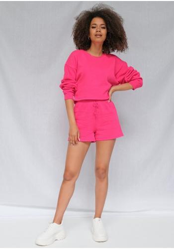 Dámske bavlnené kraťasy v ružovej farbe