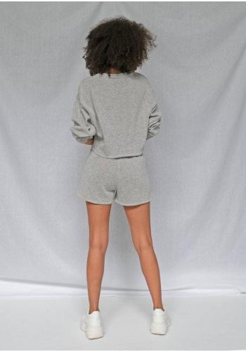 Sivé bavlnené kraťasy pre dámy
