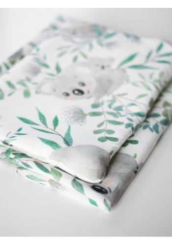 Bambusová deka na leto pre bábätka - zajačiky (vankúš grátis)
