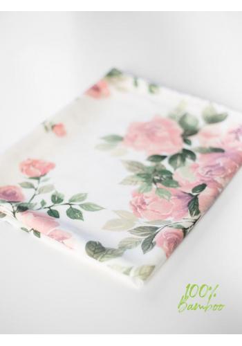 Letná bambusová deka pre bábätka - magické kvety (vankúš grátis)