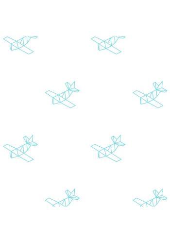 Sada nálepiek v štýle origami s motívom lietadiel