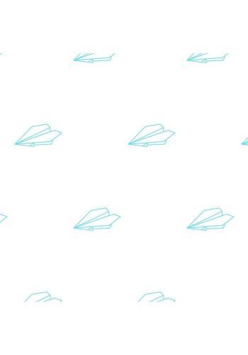 Pastelová sada nálepiek v štýle origami s motívom papierových lietadiel