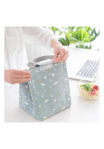 Sivá termotaška na prepravu potravín