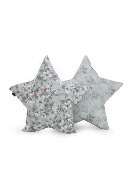 Vankúš v tvare hviezdy s vintage kvetmi