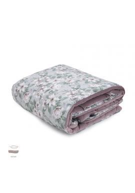 Staroružová zamatová teplá deka pre deti s vintage kvetmi