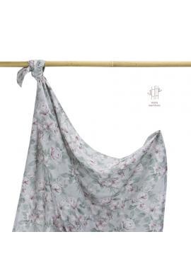 Bambusová deka na leto s vintage kvetmi
