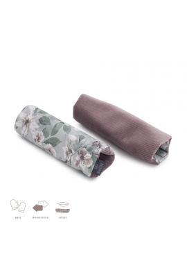 Obojstranné ochranné kryty na pásy do kočiara s vintage kvetmi - zamat