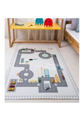 Detský koberec s motívom cesty