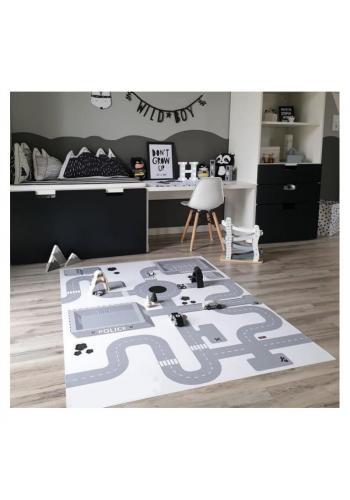 Detský koberec/podložka na hranie s motívom cesty