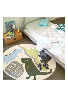 Okrúhly detský koberec/podložka na hranie s motívom dinosaurov