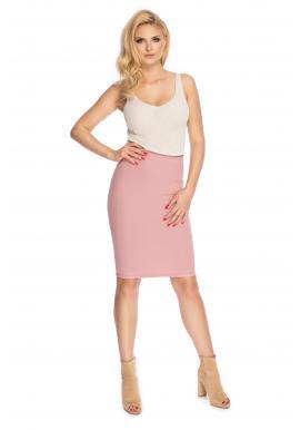 Puzdrová sukňa pre dámy v púdrovej farbe