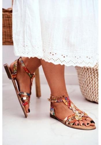 Farebné vzorované sandále pre dámy