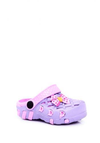 Dievčenské fialové kroksy s mašľou