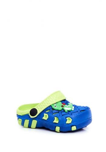 Zeleno-modré kroksy s krokodílom pre chlapcov