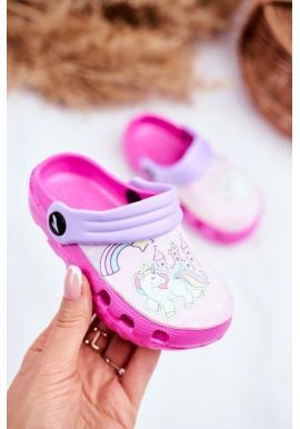Štýlove ružové kroksy pre dievčatá s poníkom