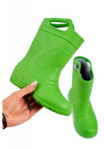 Detské klasické gumáky v zelenej farbe